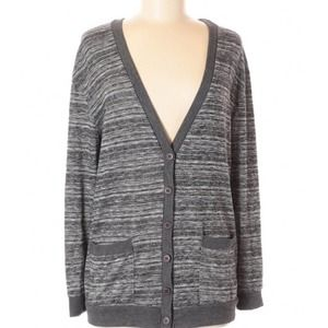Urban Outfitters gray striped cardigan sweater